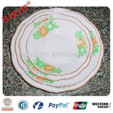 2014 New Design Personalized Porcelain Plates/Porcelain Souvenir Plate/Grape Decorative Plate
