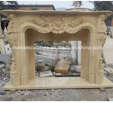 High Quality Hand Carved Marble Fireplace (SY-MF220)