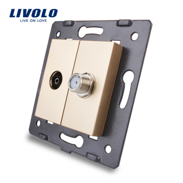 Livolo Wall Socket Accessory The Base of TV and Satellite Outlet VL-C7-1VST-13