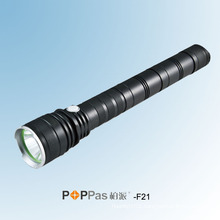 800lumens CREE Xm-L T6 Professional Tactical LED Flashlight (POPPAS- F21)