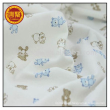 Pano de bebê 100 algodão único jersey tecido de malha