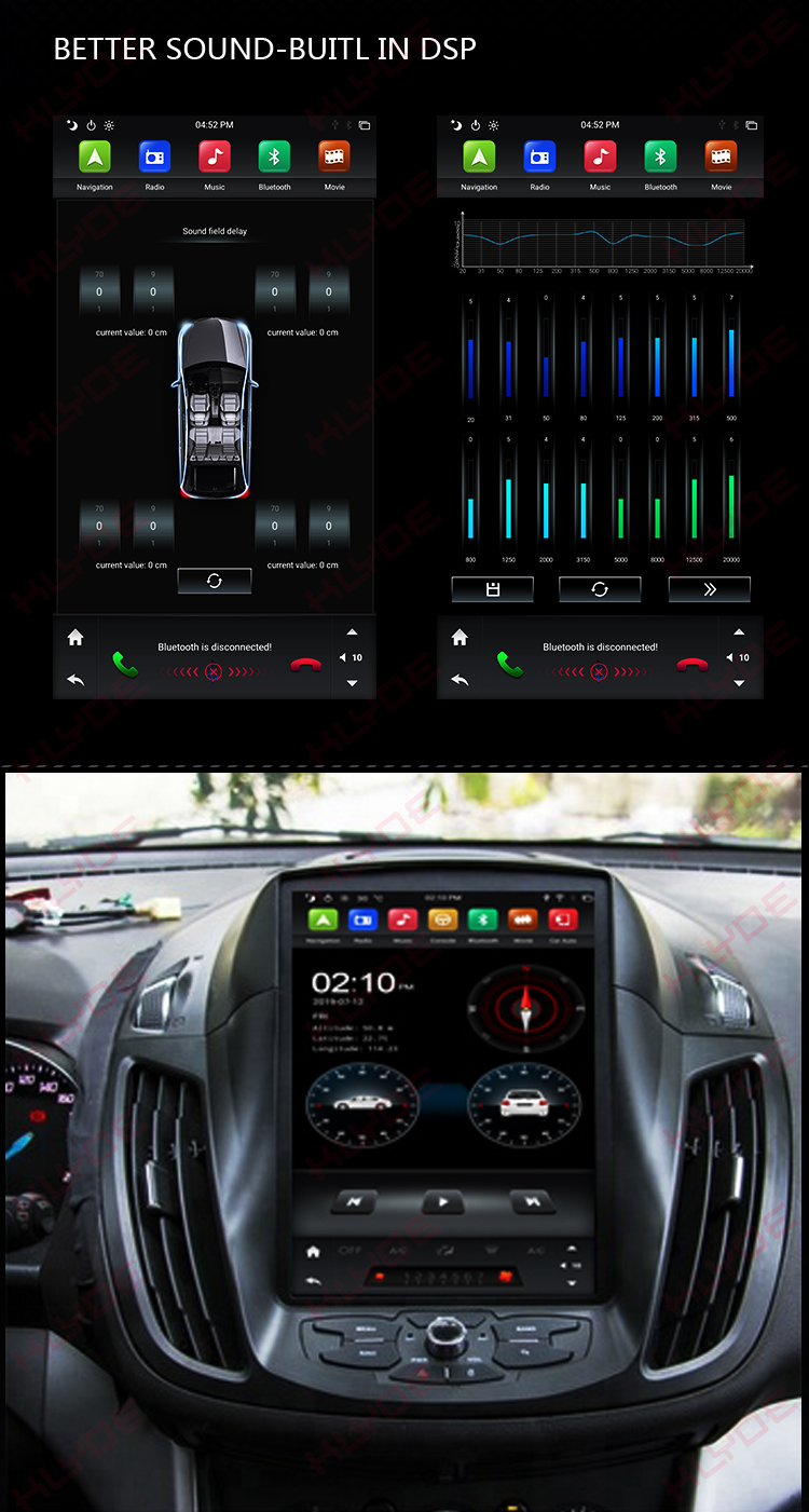 Px6 Six Core With Dsp Car Mp3 Player For Kuga 2016