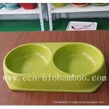 Biodegradable Bamboo Fiber Pet Supply Bowl (BC-PE6004)