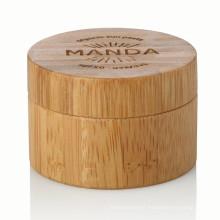 15/20/25/30/50 / 100g alumínio recipiente de bambu cuidados com a pele recipiente natural com tampa de bambu bambu jar venda quente