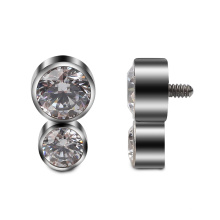 16G Internally Threaded ASTM F136 Titanium Dermal Anchor Top Piercing  Jewelry