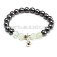 2014 New Arrival 4pcs Natural Fluorite Gemstone With Magnetic Therapy beads and Calabash Pendant Bracelet