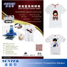 Papier de transfert de chaleur de laser de lumière de 160GSM pour le laser de couleur (peau chaude)