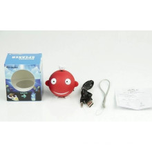 New Promotion Cute Shark Shape PVC Bluetooth Speaker Mini Wireless for Free Sample