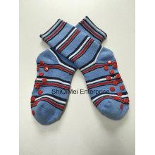 Qualité coton enfants Kids Anti dérapant chaussettes