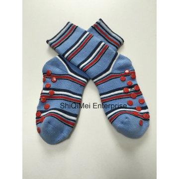 Calidad algodón niños niños Anti resbalón calcetines