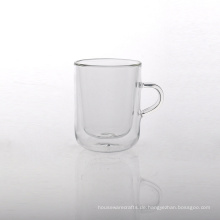 9oz Borosilikat Doppelwand Glas Teetasse