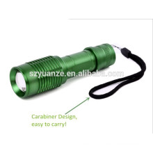green led hunting flashlight Rechargeable Flashlight with carabiner