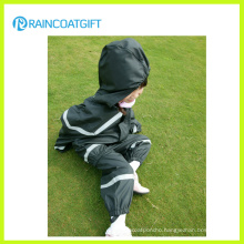 Kids PU/PVC Coverall Raincoat