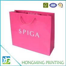 Luxury Pink Color Flowers Paper Bag
