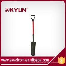 Conjunto de ferramentas de jardim Spade pá fibra de vidro D Handle dreno Spade