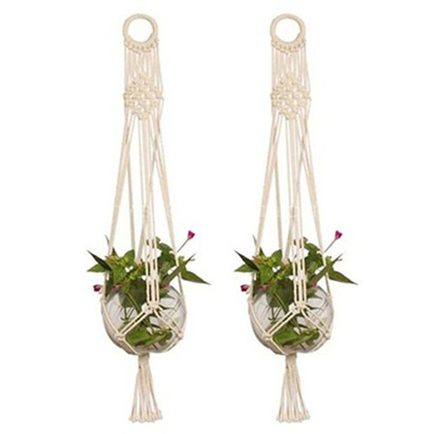 free macrame plant hanger patterns