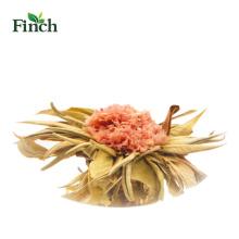 Bola de té de floración venta Finch Hot con clavel en el paquete de vacío