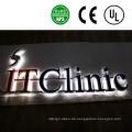 Werbung LED-Backlit-Edelstahl-Kanal-Buchstabe-Zeichen