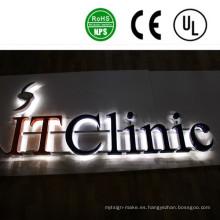 Signos de letras de canal iluminado LED de alta calidad al aire libre
