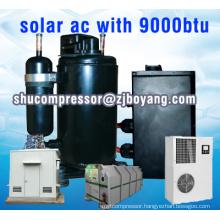 Solar a/c with 9000btu kompressor for DC inverter solar air conditioner Solar AC Inverter System with dc 48 compressor