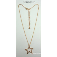 Metal Plated Necklace with a Star Pendant