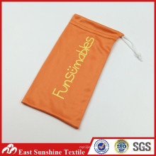 Microfiber Eyeglasses Cleaning Pouch Case, Microfiber Fabric Drawstring Eyeglass Pouch
