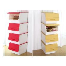 Neue Design Fashion Kunststoff stapelbar Aufbewahrungsbox