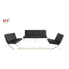 Silla moderna del sofá de Barcelona del ocio (RFT-F66-3)