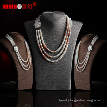 3 Strands Latest Design Freshwater Pearl Necklace (E130091)