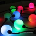 A cor completa conduzida do ponto de bola de DMX 3d 50mm RGB conduziu a corda da luz do módulo do pixel