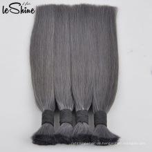 Jungfrau / natürliches indisches Remy-Menschenhaar-Massen-rohes unverarbeitetes flechtendes Haar