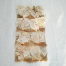 China fur factory wholesale animal fur 50x100cm coyote Paw Plate