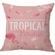 Benutzerdefinierte rosa Flamingos Samt Kissenbezug Kissenbezug