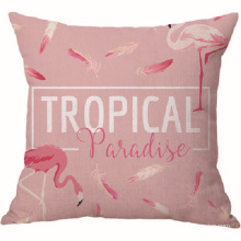 Custom Pink Flamingos Velvet Pillow Case Cushion Cover