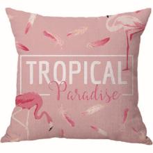 Capa de almofada de veludo rosa flamingos personalizada