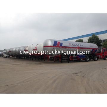 LPG as roda 3 25.8T transportasi Semi Trailer