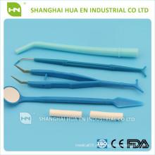Einweg-Dental-Kit, Einmal-Dental-Instrument mit CE & ISO, Dental Implantat Chirurgische Kit