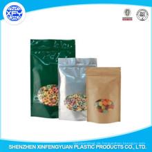 Großhandel preiswerter Steh-Reißverschluss-Verschluss-Beutel für Verpackungs-Süßigkeit