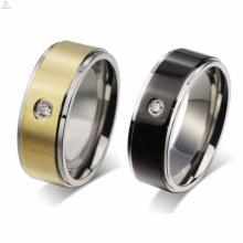 Дешевые Из Нержавеющей Стали Кристалл Камень Золото Ювелирные Изделия Кольца