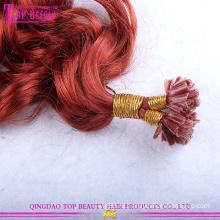 оптовая дешевые кудрявый фигурные u наконечник 100% индийский Реми волосы расширений