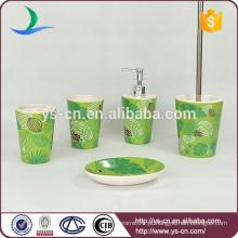 Acessório de banho de cerâmica verde para o mercado europeu