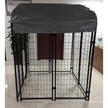 A venda quente americana soldou o canil exterior do engranzamento de fio / casa de cão da porta para fora