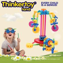 DIY Plastic Education Toy pour enfants Bâtiments en plastique