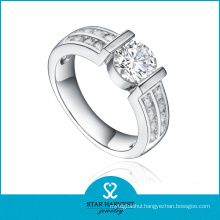 Luxury White 925 Sterling Silver Ring in Stock (R-0330)