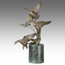 Animal Brass Statue Ducks Decoration Bronze Sculpture Tpal-313