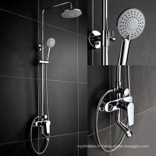 Douche de luxe de haute qualité en laiton de poignée de salle de bains de double poignée, mélangeur de douche de Bath