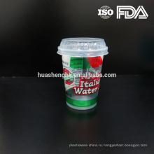 Горячая распродажа дешевые пластиковые прозрачные 10 унций одноразовые чашки с пластиковой крышкой