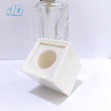 Frasco de vidro quadrado transparente do perfume do pulverizador