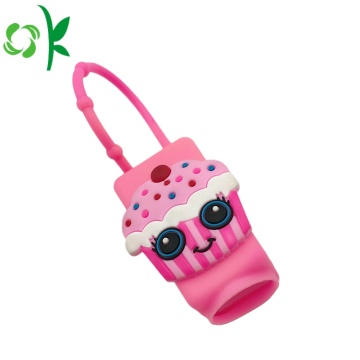 Cream Cake Design Silicone Hand Sanitizer Perfume Holder