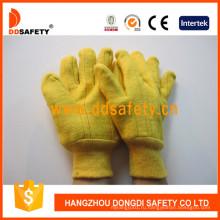 Золотистые руно вышитые теплые рабочие перчатки Dcd105